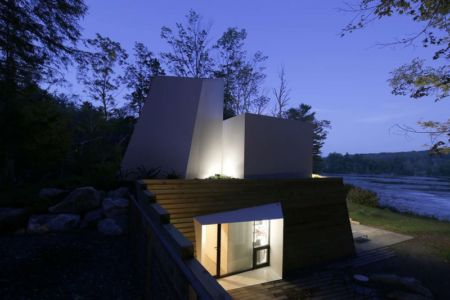 entrée illuminée - lake house par Taylor and Miller Architecture and Design - Usa