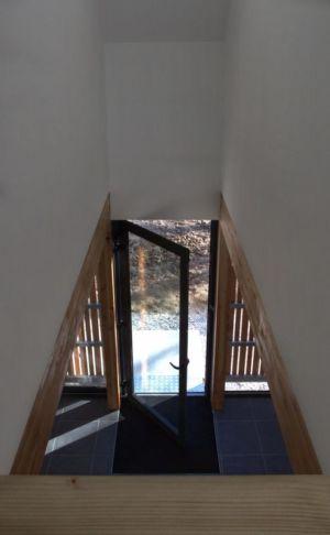 entrée intérieure - Maison ossature bois par Atelier 56S - France - Photo Jeremías Gonzalez