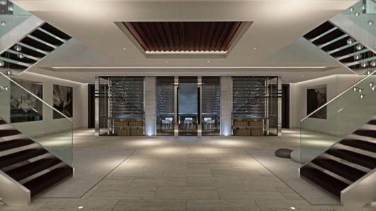 entrée - luxueuse villa par Ark Architects - San Roque, Espagne