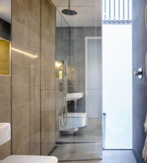 entrée salle de bain - Percy lane luxury homes par Odos architects - Dublin Irlande.jpg