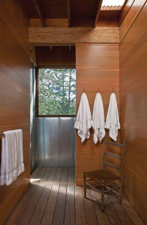 entrée salle de bains - Cabin-Flathead-Lake par Anderson Wise Architects - Montana, USA