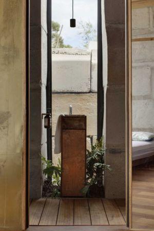 entrée salle de bains - Sawmill-House par Archier - Yackandandah, Australie
