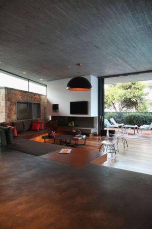 entrée & salon - A&A-House par WoArchitects - Athènes, Grèce