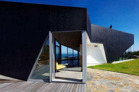 entrée terrasse - Scape House par Andrew Simpson Architects - Victoria, Australie