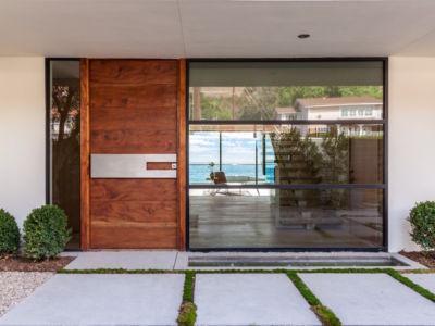 entrée - villa contemporaine à Malibu, Usa