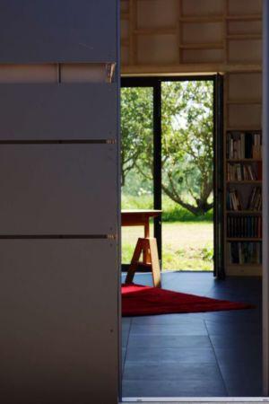 entrée & vue bibliothèque - Le-Bourg-Neuf par ng-architecte - Bretagne, France