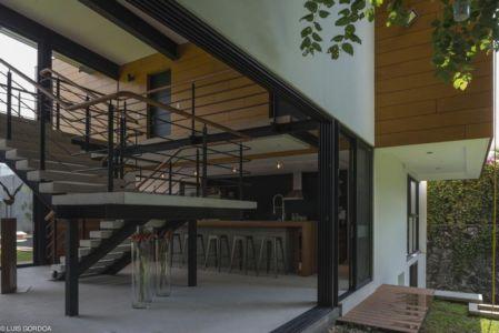 escalier - ALD House par Space Mexico - Cuernavaca, Mexique