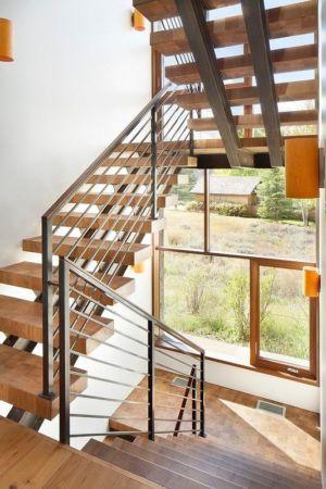 escalier - Contemporary Western par Hoyt Architects & CTA Group - Usa