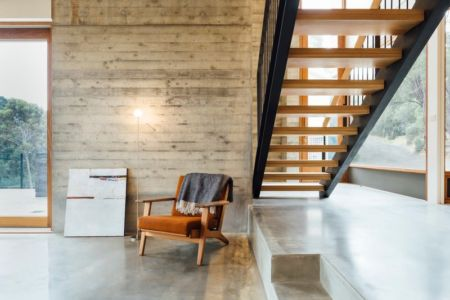escalier - Dawes Road House par Moloney Architects - Ballarat, Australie