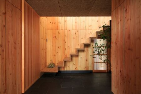escalier - House In Itsuura par Life Style Koubou - Ibaraki Prefecture, Japon