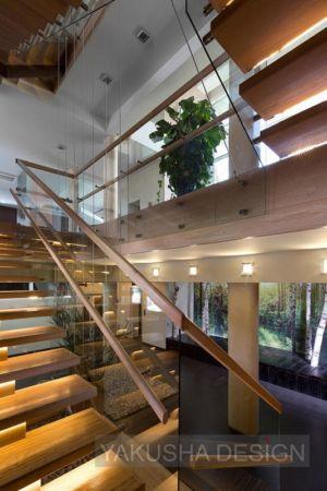 escalier - House «Ecominimalizm». par Yakusha Design - Dnipropetrovsk, Ukraine