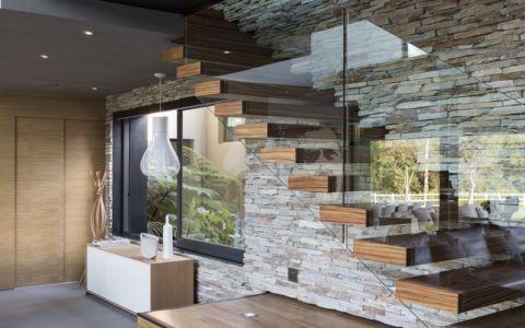escalier - House-in-Blair-Atholl par Nico van der Meulen Architectes - Johannesburg, Afrique du Sud