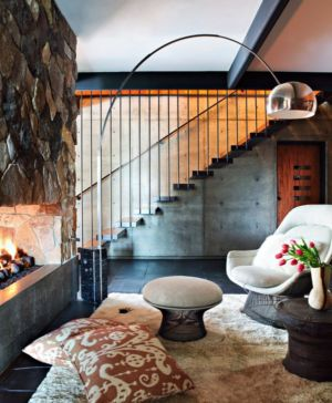 escalier - La Cañada Residence par Jamie Bush & Co. - Sierra Madre, Usa