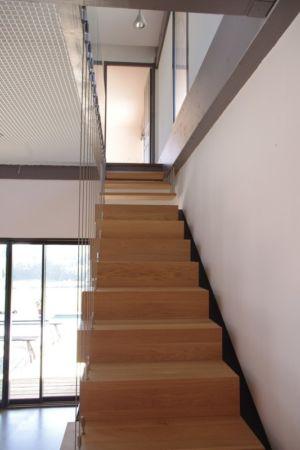escalier - Maison l'Estelle par François Primault architecte - Moirax, France