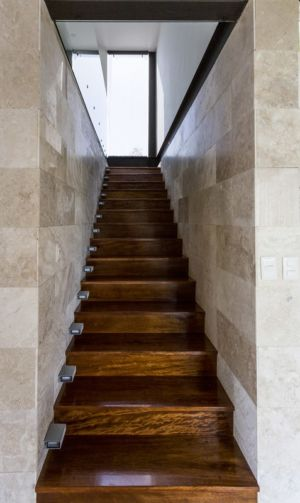 escalier - Montebello 321 par Jorge Bolio Arquitectura - Merida, Mexique