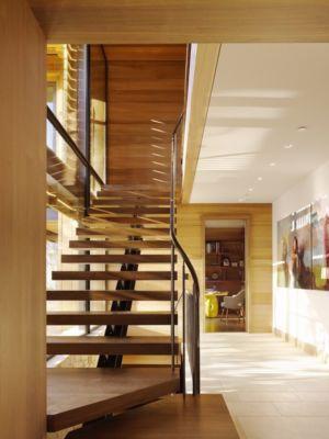 escalier - Mountain Wood Residence par Walker Warner Architects -Woodside, Usa