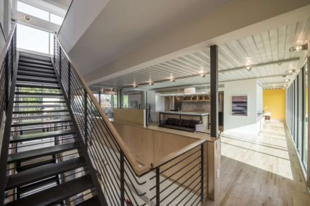 escalier - PV14 House par M Gooden Design - Dallas, Usa