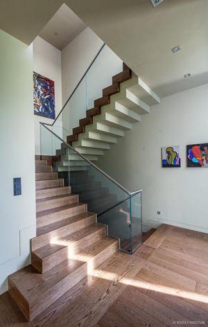 escalier - Reviving Mies par Architéma - Buda Hills, Hongrie