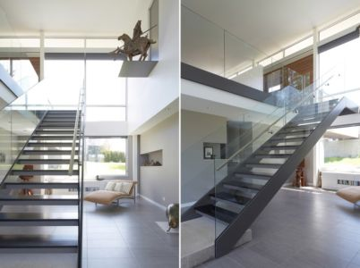 escalier - Riverview House  Studio Dwell Architects -  Wayne, Usa