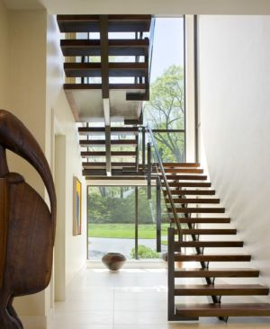 escalier - Secluded contemporary home par Point One Architects - Essex, Usa