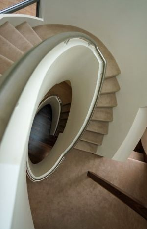 escalier - Ventura House par David James Architectes - Dorset, Royaume-Uni
