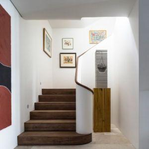 escalier - Waterfront House par Luigi Rosselli Architects - Sydney, Australie