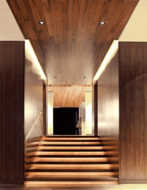 escalier - Wildcat Ridge residence par Voorsanger Architects - Aspen, Usa