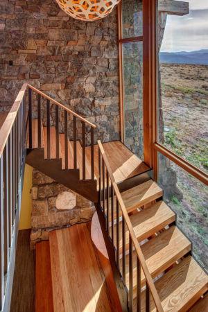 escalier - Wolf Creek Ranch par S+D Architects - Utah, Usa