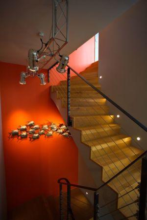 escalier étage - Barbo House par Ralph Büeler (Bend Group) - Genève, Suisse