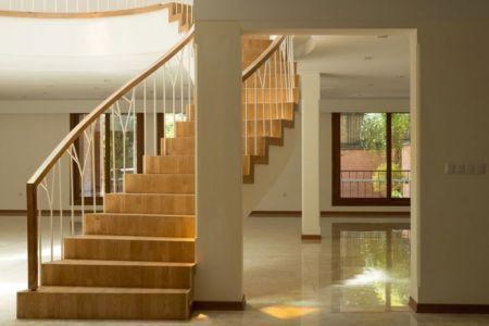escalier rez-de-chaussée - Kaveh-House par Pargar Architecture and Design Studio - Téhéran, Iran