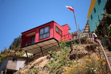 escalier accès - Suarez-House par Arq2g-arquitectura - Valparaíso, Chili