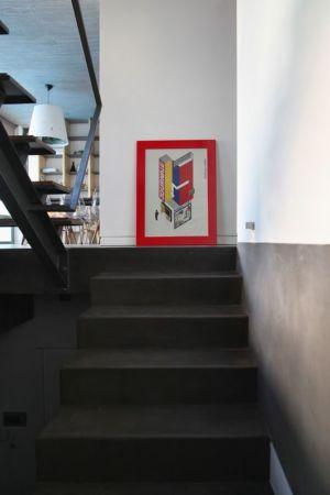 escalier accès étage - A&A-House par WoArchitects - Athènes, Grèce
