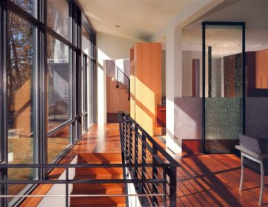 escalier accès étage - Hargrave-Residence par Robert M. Gurney Architect - Maryland, Etats-Unis
