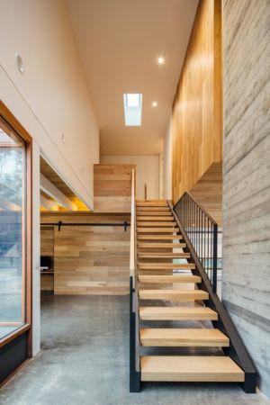 escalier accès étage - Invermar House par Moloney Architects - Ballarat, Australie