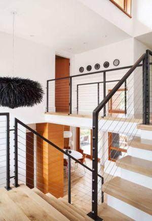 escalier accès étage - Los-Altos-House Dotter Solfjeld Architecture - Los Atlos, USA