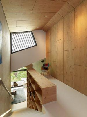 escalier accès étage - Mountain-View House par SoNo arhitekti - Kitzbuehel, Slovénie