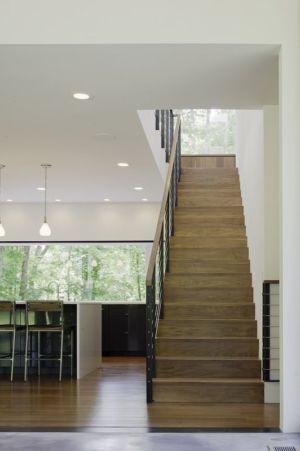 escalier accès étage - Clark Court par In Situ studio - Raleigh, USA
