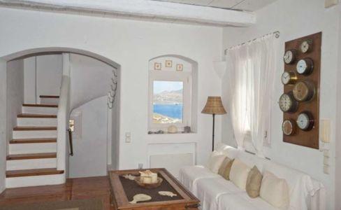 escalier accès étage - villa-grecque - île Mykonos, Grèce