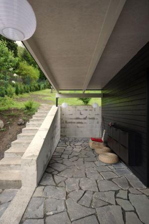 escalier accès jardin - House Vaňov par 3-1architekti - Vaňov, République Tchèque