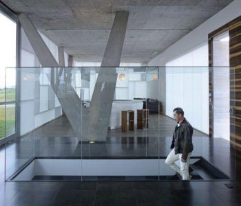 escalier accès niveau inférieur - Campanario-2 par Axel Duhart Arquitectos - Santiago-Querétaro, Mexique