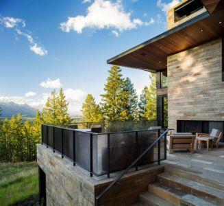 escalier accès terrasse - Butte Residence par Carney Logan Burke Architects - Jackson, Usa
