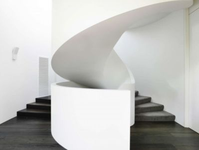 escalier béton colimaçon - Bayside townhouses par Martin Friedrich architects – Australie |
