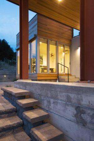 escalier béton extérieur - Cloverdale par Elemental Architecture - Usa - Jaime Kowal Photography