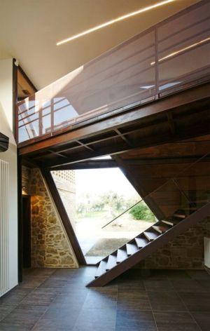 escalier & balustrade étage - Recupero-casa par Rocco Valentini - Chieti, Italie