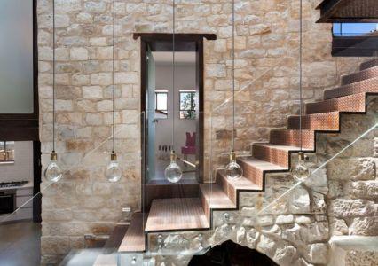 escalier - Stone-House par Henkin Shavit Architecture & Design - Safed, Israël