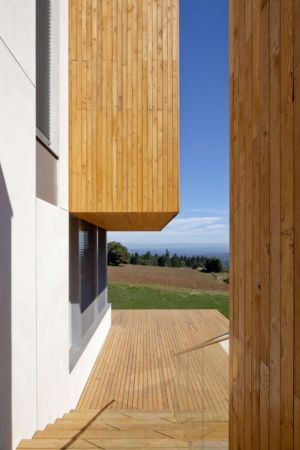 escalier, bardage et terrasse - Karuna House par Holst Architecture - Newberg, OR, Usa
