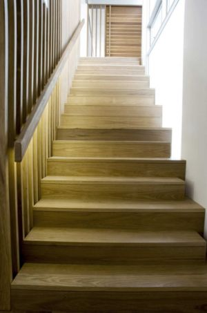 escalier bois - Mosman house par Popov Bass Architects - Sydney,Australie - photo Kraig Carlstrom