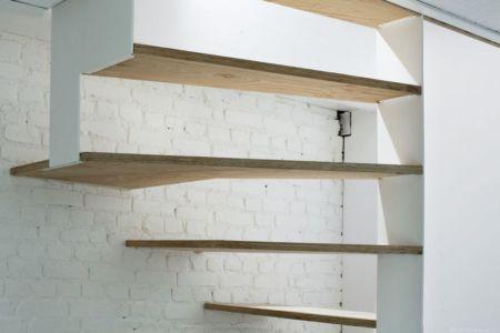 escalier bois étage supérieur - Saganaki House par BUMParchitectes, France