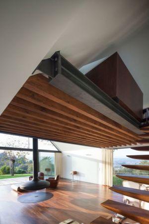 escalier bois accès étage - House-four-houses par Prod Architecture - Penafiel, Portugal