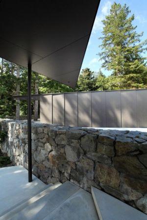 escalier d'accès - Tula House par Patkau Architects - Quadra Island, Canada